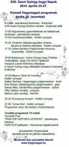 Hegymagas Program Szent György-hegyi Napok
